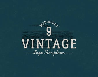 Perfect Vintage Logo Templates for any business, shop, or brand