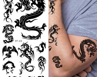 Supperb Temporary Tattoos - Small Dragons II (Set of 2)
