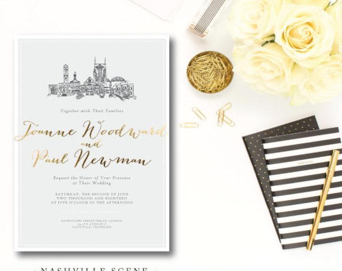 Featured listing image: Nashville Scenes Wedding Invitations