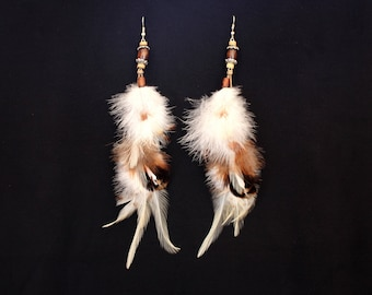 """Earrings feathers """"Soft clouds"""""""