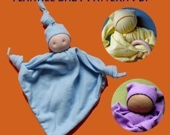 Flannel Baby  A First Doll Pattern PDF, Waldorf Baby, Waldorf Toy, Sewing Pattern, Instant Download