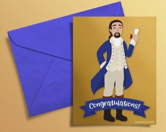 Hamilton musical Graduation card printable, print yourself, digital download