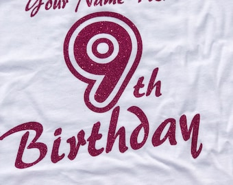 Birthday girl, 9th birthday shirt, 7th birthday shirt, 8th birthday shirt, birthday girl tank top, birthday girl t-shirt, 6th birthday girl