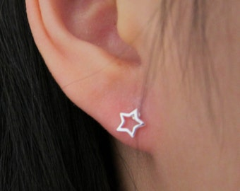 Tiny Star Stud Earrings,  sterling silver star earrings, tiny Stud Earrings, Everyday Jewelry, gift for kids, birthday gift, gift for friend