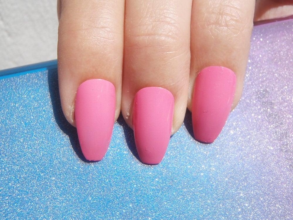 pink glossy coffin nails bride bridesmaid wedding pastel goth ...