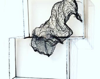Glass, metamorphosis and textile art picture