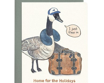 Home for the Holidays Goose Card