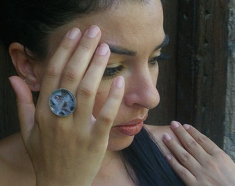 Glass ring - Snow fairy