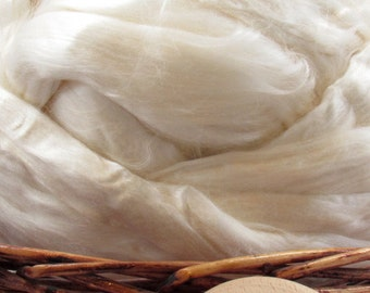 Rose Fiber Top - Undyed Spinning Fiber/ Roving - 1oz