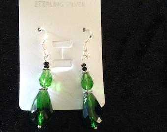 Czech Crystal 925 Sterling silver earrings