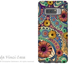 Paisley Galaxy Note 8 Case - Colorful Paisley Case for Samsung Galaxy Note 8 with Floral Art - Petals and Paisley - Premium Dual Layer Case
