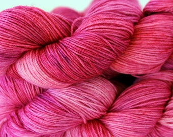Hand dyed Merino, Silk Sock Yarn, Handdyed Fingering Weight Yarn, Sock Yarn