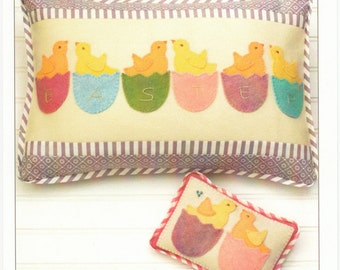 Easter Chicks Pillow Pattern, Easter Peeps #2062 Bunny Hill Design, Pin Cushion Pattern, Baby Chick Easter Pillow Pattern,  Applique Pattern