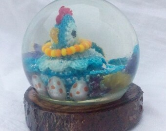 Sphere, Jewelry Resin-Chicken With Eggs