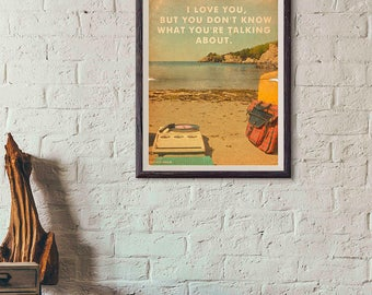 20% OFF!! Moonrise Kingdom Movie Poster - Print I - Wes Anderson Print Vintage Style Magazine Print movie quotes Watercolor Background