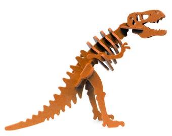 Dinosaur Puzzle, Dinosaur Toy, MINIATURE 3D Dinosaur Skeleton Puzzle, Recyclable PVC Tyrannosaurus Rex, T-rex Toy Puzzle, ORANGE