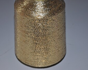 1 spool 500 g metallic yarn  Nm 83 gold 83.000 m/kg lurexyarn