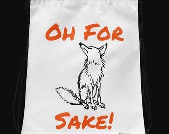 OhForFoxSake Drawstring Bag