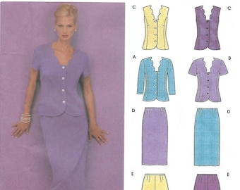 Simplicity 9558 Women's Petite Tops Skirt and Pants Sewing Pattern Size 6 to 12 Bust 30 1/2 to 34