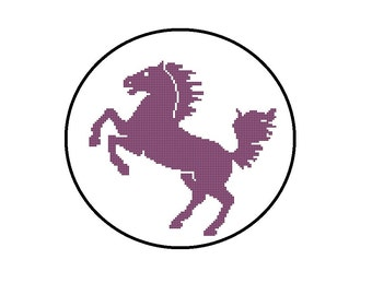 Counted Cross Stitch Pattern PDF - Horse Silhouette - Instant Download