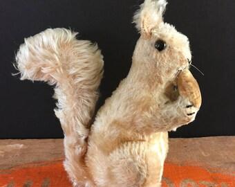 Vintage Steiff Squirrel with velvet nut, collectible, toy squirrel