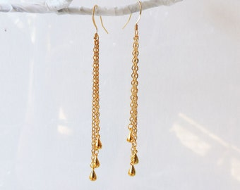 chain in earrings product silver long gallery normal lyst swing metallic asos jewelry