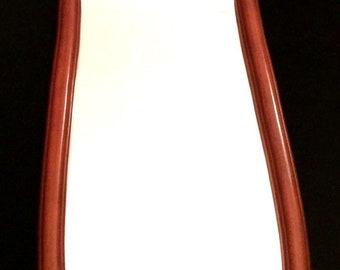 "41"" Large Skinny Full Length Wall Mirror Cherry Wood Framed Vintage"