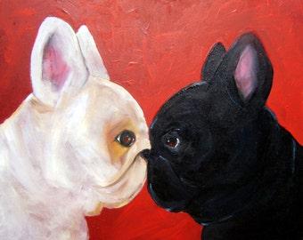 "French Bulldog Art Print of an original oil painting / ""Attitudinal ""/ Dog Art / 8 x 10"