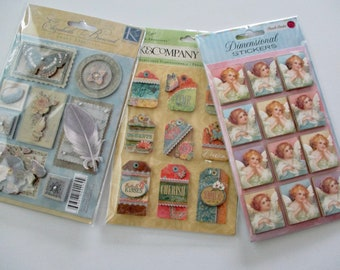 stickers - new in original package, K & Company, Elizabeth Brownd, Grand Adhesions, Susan Winget, acid and lignin free, set #7