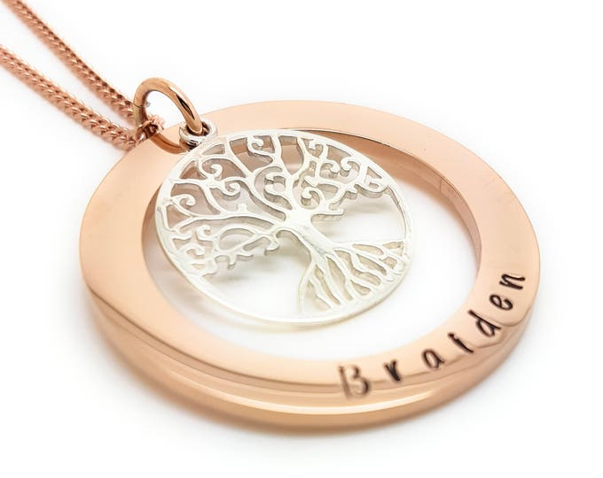 Il680x5401238110310d81ygversion0 family names tree of life pendant personalised jewellery hand stamped name necklaces rose gold family name aloadofball Image collections