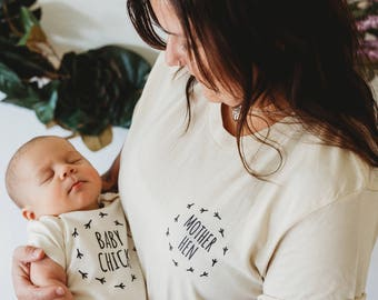 Mother Daughter Shirts, Mom and Baby Shirts, Mother Hen, Baby Chick, Mommy and Me Tees, Mom and Baby Matching Shirts, Mother Daughter Outfit