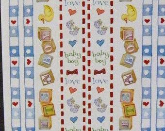 SUSAN BRANCH Baby Boy border sticker panel