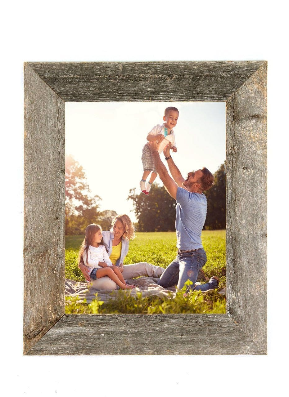 Rustic Wood Picture Frame Barnwood Picture Frame Reclaimed