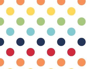 Riley Blake Designs, Medium Dots in Rainbow (C360 01)
