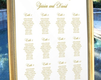 Wedding Seating Chart, Wedding Table Seating Chart, Table Seating Chart Printable, Table Chart, Traditional Wedding Seating Chart Template