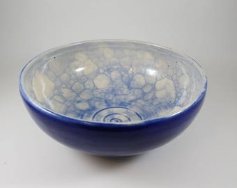 Blue Bubble Serving Bowl