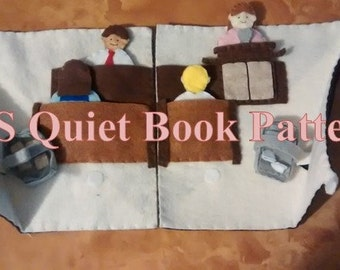 Sacrament Meeting Quiet Book Pattern - LDS Quiet Book Pattern - Quiet Book for Toddlers