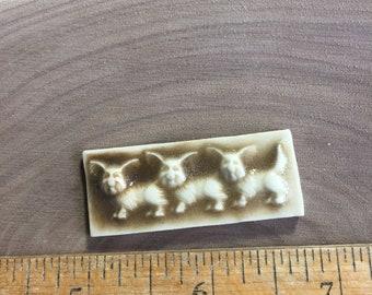 Mosaic Tile Ceramic Three Dogs Porcelain SALE