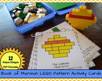 Book of Mormon LEGO Pattern Activity Cards