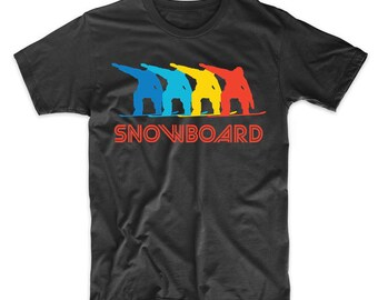 Snowboarder Retro Pop Art Snowboarding Snowboard Graphic T-Shirt