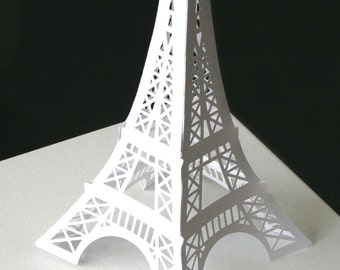 SALE Eiffel Tower 12 inches  paper die cut decoration for your Paris themed party