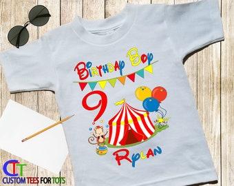 CIRCUS Birthday Boy Shirt - Circus Shirt - Birthday Party Shirt - Big Top Shirt - Birthday Boy Circus Birthday Shirt - Matching set shirt