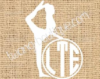 Gymnast Gynastics Monogram ~  Custom ~ Vinyl ~ Decal ~ Sticker