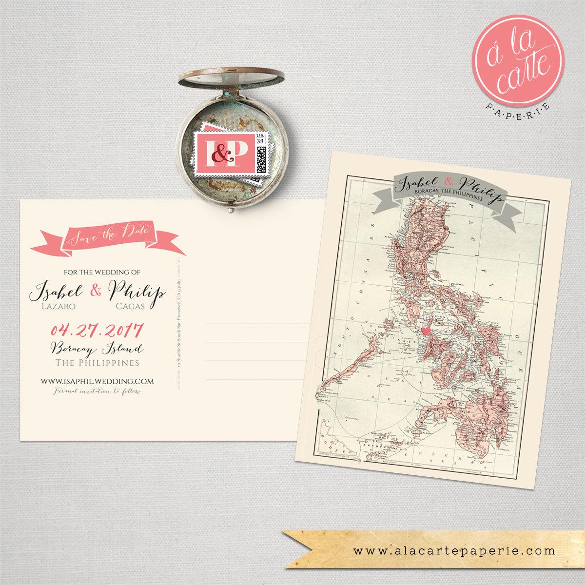 Destination wedding invitation the philippines boracay manila zoom stopboris Gallery