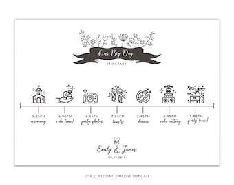 Wedding Timeline Etsy Template