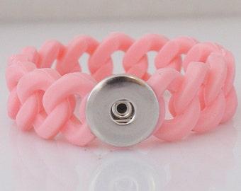 "8"" Pink Silicone Bracelet"