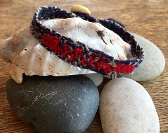 Cuff ' Red White and Blue Abstract'