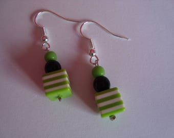 Collection / green earrings
