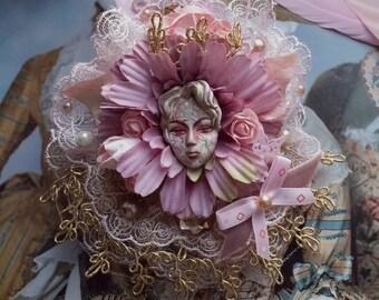 "Brooch ""Flower prince"" (classic lolita, sweet lolita, cult party kei, dolly kei, menhera, fairy kei, pastel goth, decora, yami kawaii, ouji)"