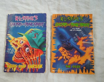 90s R.L Stine Fear Street Goosebumps Scary Stories Hide and Shriek The Ooze